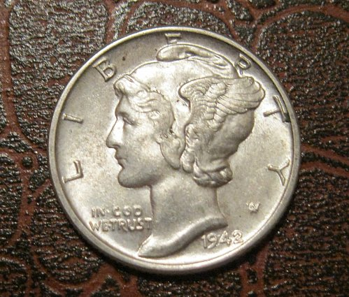 1942 MERCURY DIME, WINGED LIBERTY