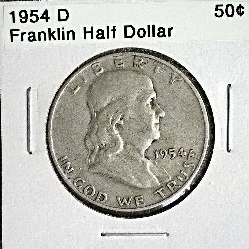 1954 D Franklin Half Dollar