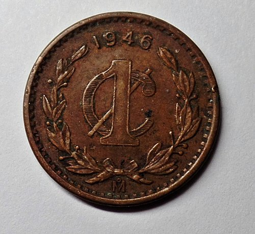 1946 ONE CENT MEXICO