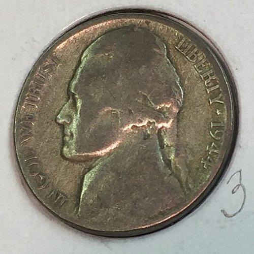 1944-P Jefferson Wartime Nickel (41678)
