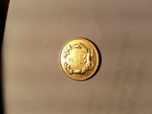 1874 Very Rare Nice Gold 3.00 Indian Head coin