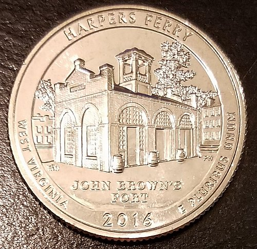 2016-S Harpers Ferry ATB Quarter - From US Mint Roll (6643)
