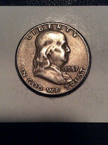 1957 D Franklin Half NO RESERVE!