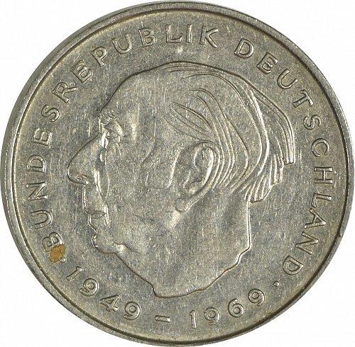 Germany (Bundesrepublik), 2 DM, 1970,  (Item 469)