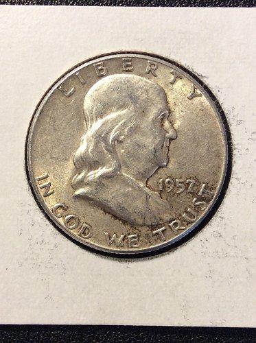 1957 P Franklin Half