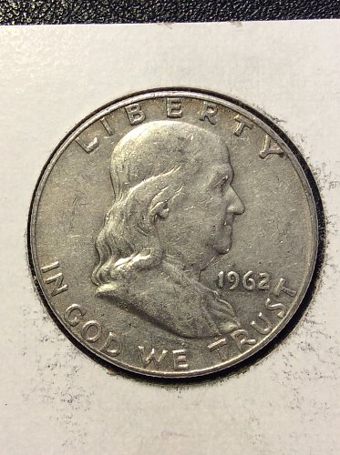 1962 D Franklin Half