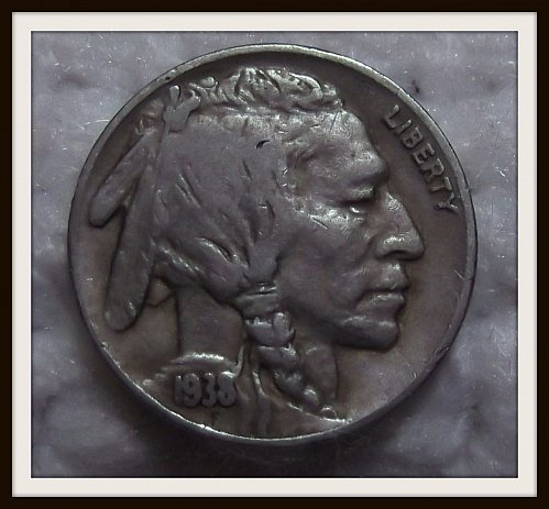 1938 - D over S Buffalo Nickel (VF)