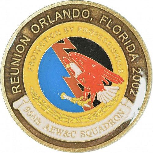 Challenge Coin, 966th AEW&C Squadron Reunion, 2002, (Item 447)