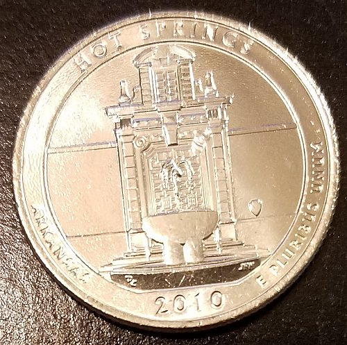 2010-D Hot Springs ATB Quarter - From Mint Roll! (6655)