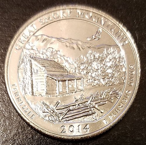 2014-D Great Smokey Mountains ATB Quarter - From US Mint Roll (6657)