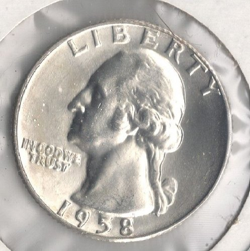 1958 D Washington Quarter BU BRILLIANT MS 63+