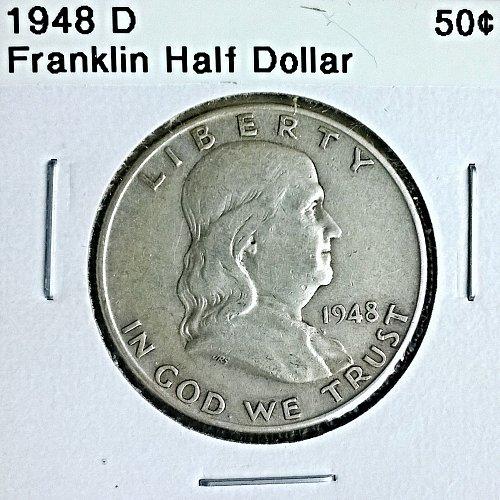 1948 D Franklin Half Dollar
