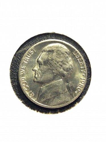 1980 P Jefferson Nickel