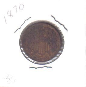 1870  TWO CENTS