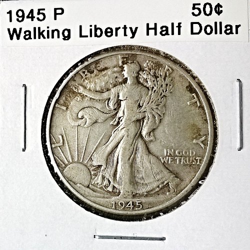 1945 P Walking Liberty Half Dollar - 6 Photos!