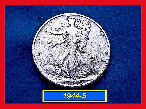 "1944-S   Walking Liberty Half  ★  ""Circulated""   (#1669)b"
