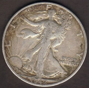 1942-S Walking Liberty Half Dollars Very Fine-Nice!
