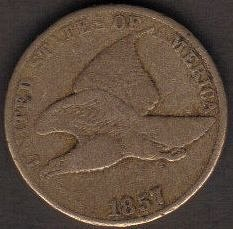 1857 P Flying Eagle Cent Small Cents-Very Fine Or Better