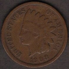 1908 INDIAN HEAD CENT-EF-40 Or Better