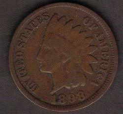 1898 P Indian Head Cent Small Cents Bronze Composite Penny Very Fine Or Better