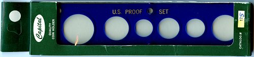 "Capital Plastics ""U.S. Proof Set"" 6-Coin Holder Small Dollar - Blue - New - 17S"