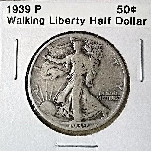 1939 P Walking Liberty Half Dollar - 6 Photos!
