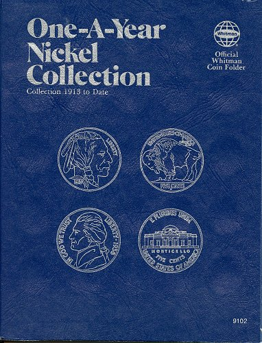 "Whitman Folder  ""One-A-Year Nickel Collection"" 1913 to *Date 9102 - NEW"