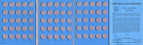 """Whitman Folder  """"One-A-Year Nickel Collection"""" 1913 to *Date 9102 - NEW"""