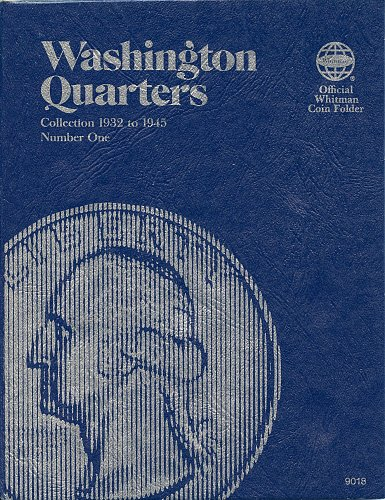 """Whitman Folder  """"Washington Quarters"""" Collection 1932 to 1945, Number One, 9018"""