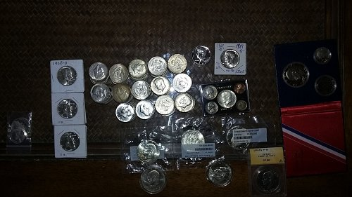 OVER 170 SILVER COINS HALF'S PLUS 159 half's