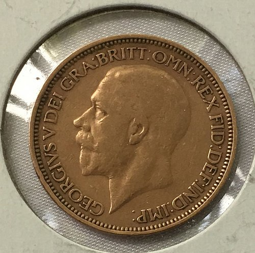 1927 Great Britain 1/2 Penny