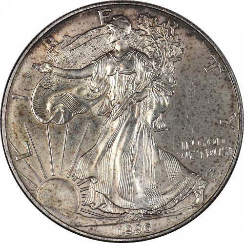 1996 American Silver Eagle,  (Item 386)