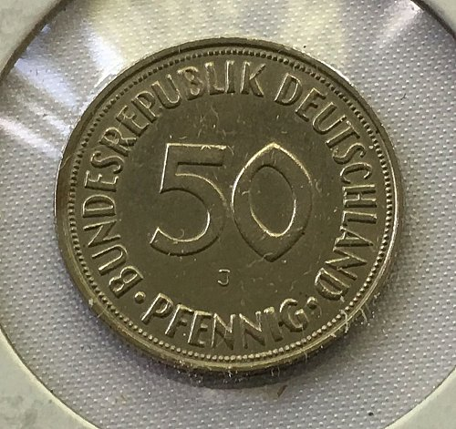 1950 J Germany - Federal Republic 50 Pfennig