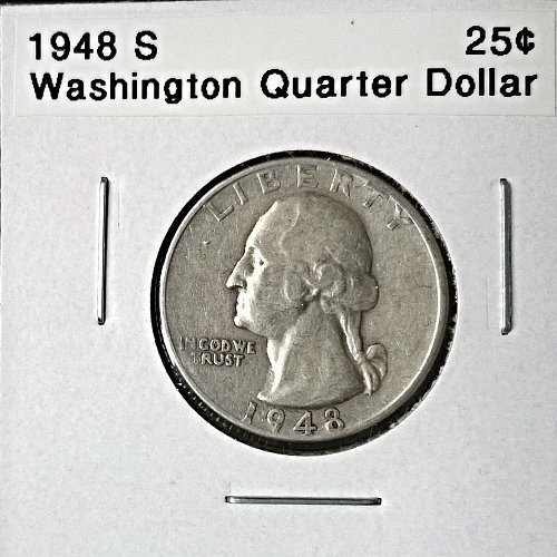 1948 S Washington Quarter Dollar