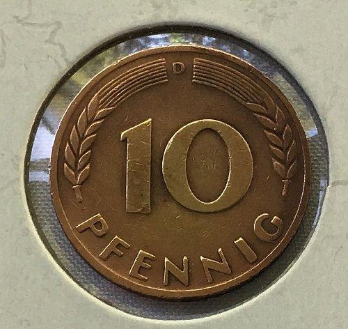 1949 D Germany - Federal Republic 10 Pfennig
