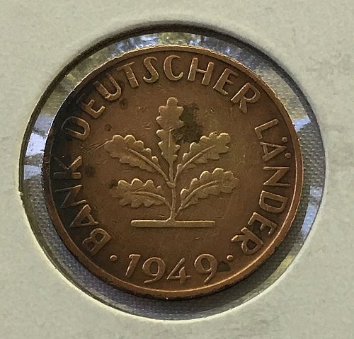 1949 D Germany - Federal Republic 10 Pfennig