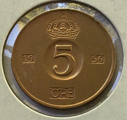 1956 TS Sweden 5 Ore