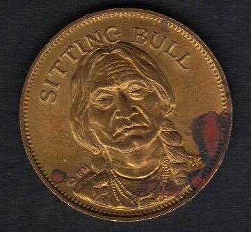 Sitting Bull Bronze Medal 1970S American Indian The Sioux Tribe