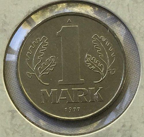1977 A German-Democratic Republic/East Germany 1 Mark