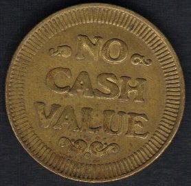 USA NO CASH VALUE Vintage Token Jetton NICE XF+. Diameter: 21 mm. 100% Authentic