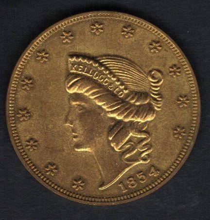 1854 San Francisco Replica $20 Gold Piece(Blank Reverse):