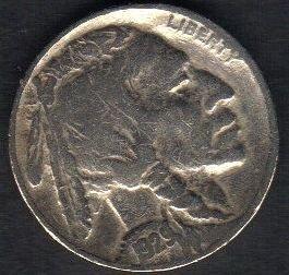 1929 Buffalo Nickel Very Fine Full Date Visable