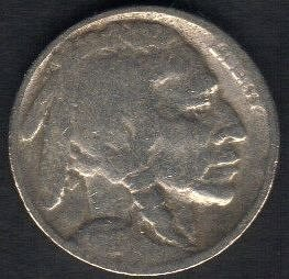 1927 P Buffalo Nickel VF-40 Date Visable