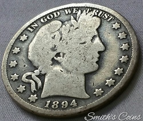 1894 Barber Half Dollar - G 6