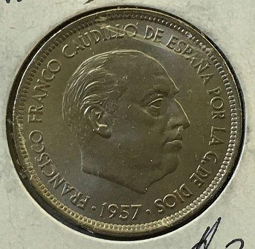 1957 Spain 50 Pesetas
