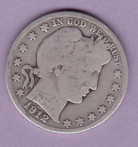 1912-s Barber Half Dollar 50C  (n192)
