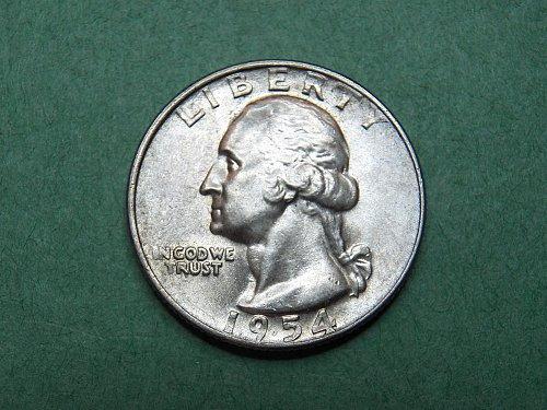 1954 D Washington Quarter    b33