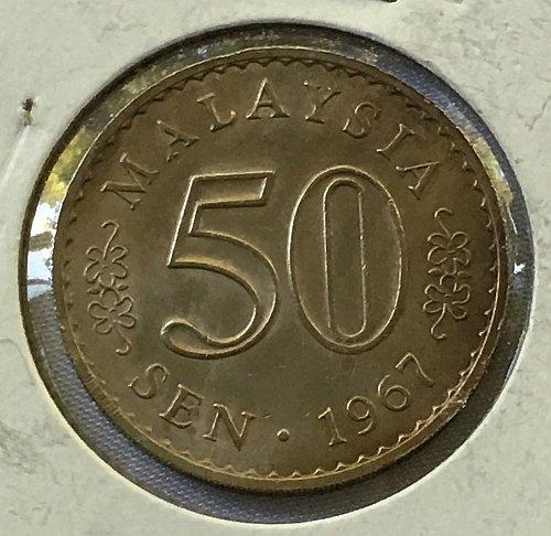 1967 Malaysia 50 Sen