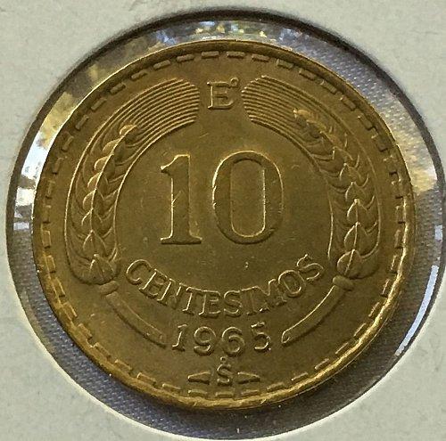 1965 Chile 10 Centesimos