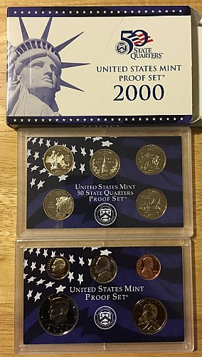 2000 Proof Set in Original Mint Packaging